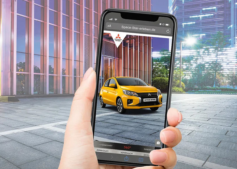Mit Augmented Reality den neuen Mitsubishi Space Star virtuell entdecken